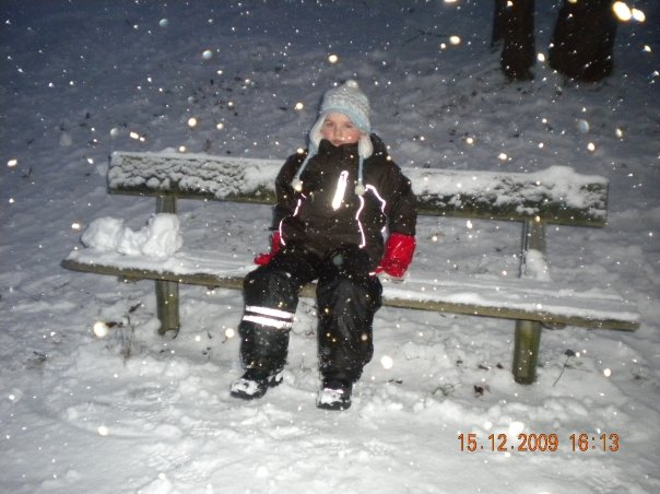 I miss the snow in Sweden, this was during the end of 2009. Me and my son had a blast on the snow.- B