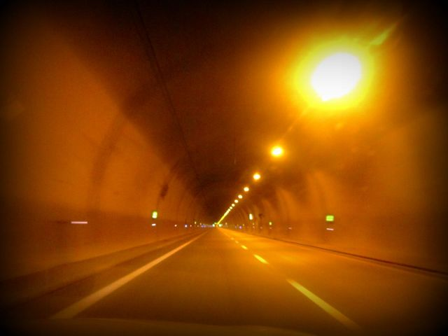 The newly built 5.8 km long tunnel