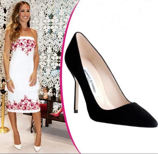 Sara Jessica Parker in white heels MB.