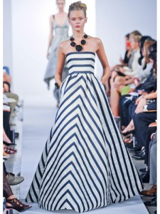 Oscar De la Renta stripes inspiration